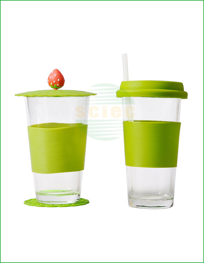 GLASS CUP WITH SILICONE COVER (28-0032)