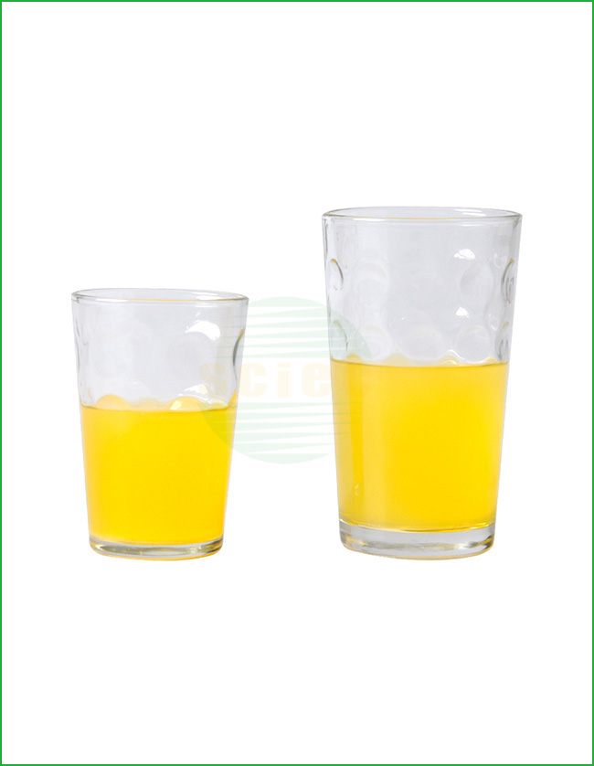 PRESSED GLASS CUP SET OF 2 (28-0038)