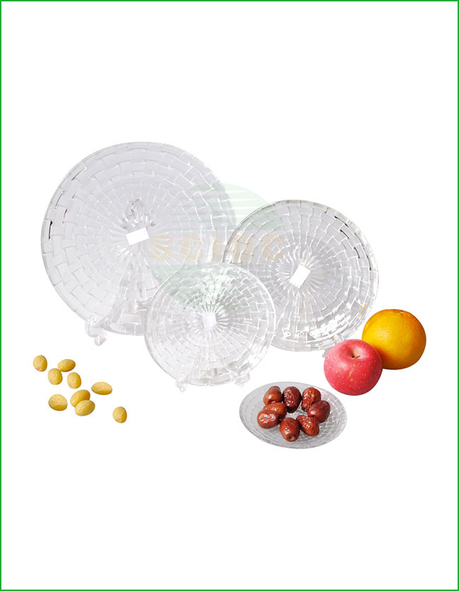 NEW STYLE GLASS DINNER PLATE SET OF 4 (37-0218)